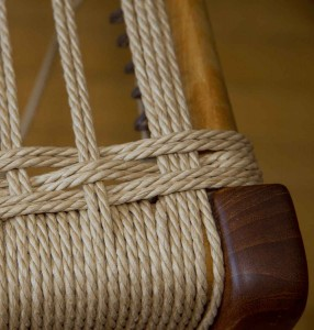 Detail of side/side weave