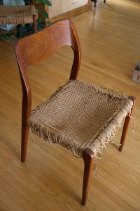 Chair in need of re-weaving